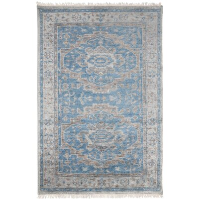Cambridge Hand-Knotted Blue Area Rug Rug Size: 8 x 10
