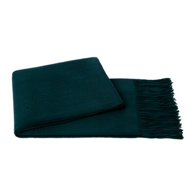 Dickson Wool Throw Color: Blue Spruce