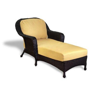 Fleischmann Chaise Lounge with Cushion Finish: Tortoise, Fabric: Rave Lemon