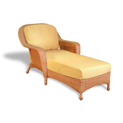Fleischmann Chaise Lounge with Cushion Fabric: Rave Lemon, Finish: Mojave