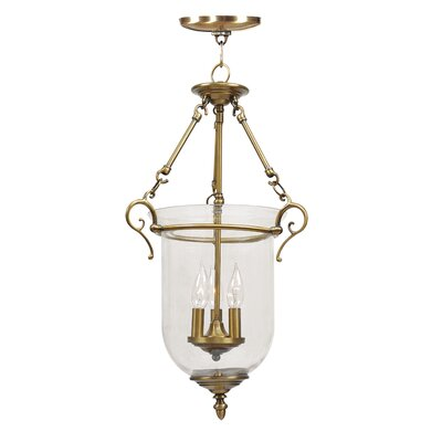 Sackler Foyer Pendant Size: 25 H x 14.5 W x 14.5 D, Finish: Antique Brass