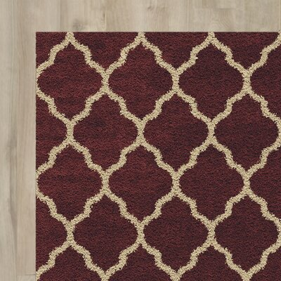 Creal Shag Red/Ivory Area Rug