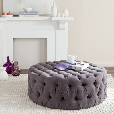 Wyard Cocktail Ottoman Upholstery: Grey