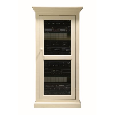 Glass Panel Door Audio Cabinet Finish: Bright White
