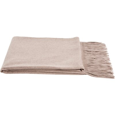 Dickson Wool Throw Color: Sand