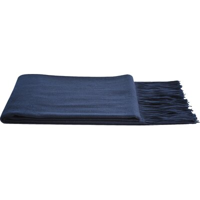Dickson Wool Throw Color: Navy
