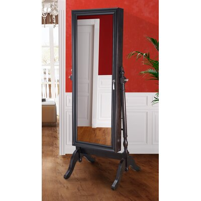 Halsey Cheval Jewelry Armoire with Mirror