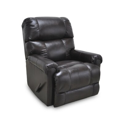 Leather Manual Rocker Recliner Upholstery: Dark Brown