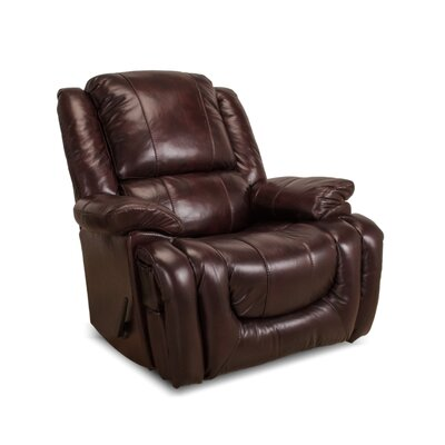 Velma Leather Manual Rocker Recliner