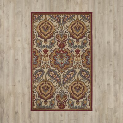 Tonisha Beige/Red Area Rug Rug Size: Rectangle 5x8