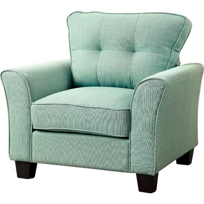 Mcneely Linen Armchair Color: Blue