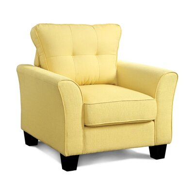 Mcneely Linen Arm Chair Color: Yellow