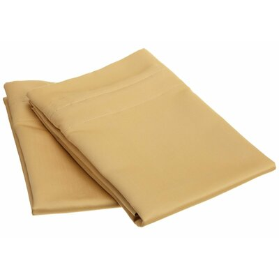 Amherst 1000 Thread Count Solid Pillowcase Pair Color: Gold, Size: Standard