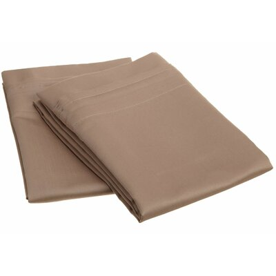 Amherst 1000 Thread Count Solid Pillowcase Pair Color: Taupe, Size: Standard