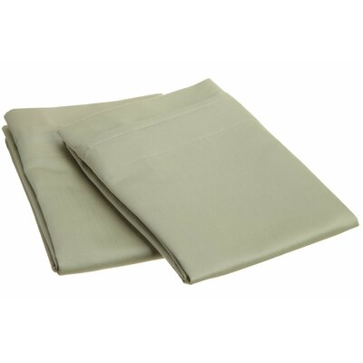 Amherst 1000 Thread Count Solid Pillowcase Pair Size: King, Color: Sage