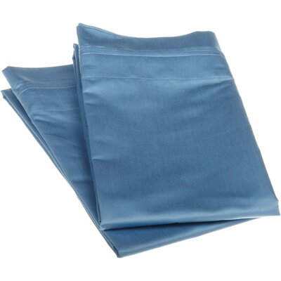 Amherst 1000 Thread Count Solid Pillowcase Pair Color: Medium Blue, Size: Standard