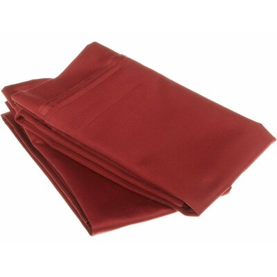 Amherst 1000 Thread Count Solid Pillowcase Pair Color: Burgundy, Size: Standard