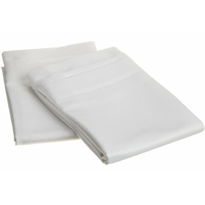 Amherst 1000 Thread Count Solid Pillowcase Pair Color: White, Size: Standard