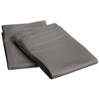 Amherst 1000 Thread Count Solid Pillowcase Pair Size: King, Color: Grey