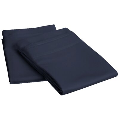 Amherst 1000 Thread Count Solid Pillowcase Pair Size: King, Color: Navy Blue