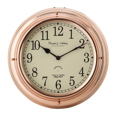 13 Copper Nautical Clock