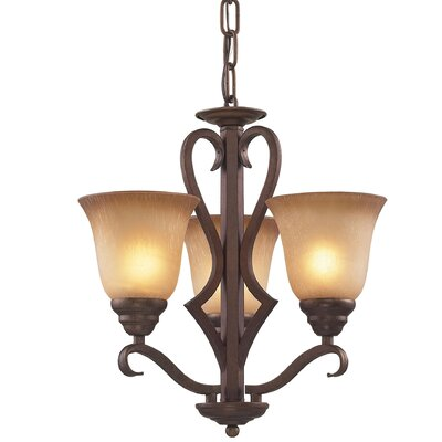 Rosenblum 3-Light Shaded Chandelier
