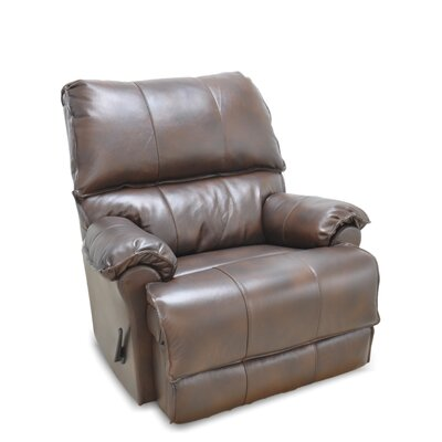 Emington Leather Manual Rocker Recliner