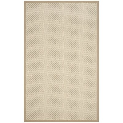 Grange Hand-Woven Beige Area Rug Rug Size: Rectangle 4 x 6