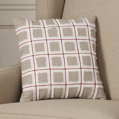 Claiborne  Grid 100% Cotton Throw Pillow