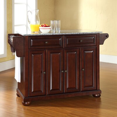Pottstown Kitchen Island with Granite Top Base Finish: Vintage Mahogany