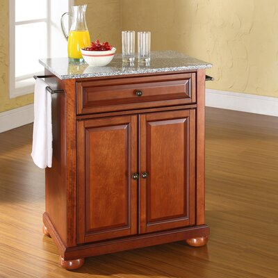 Pottstown Kitchen Cart with Granite Top