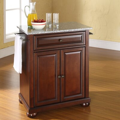 Pottstown Kitchen Cart with Granite Top Base Finish: Vintage Mahogany