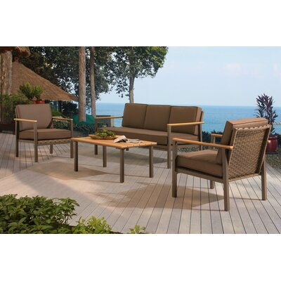 Andes 4 Piece Deep Seating Group with Cushion