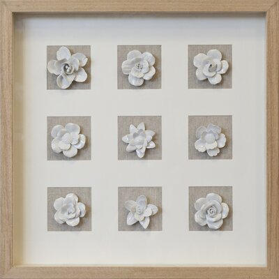 Ceramic Floral Shadow Box Wall Décor