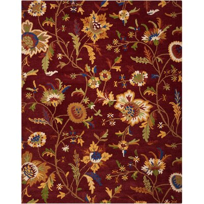 Annetta Hand-Tufted Wine Area Rug