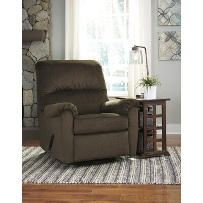 Lindemann Swivel Glider Recliner Upholstery: Cocoa