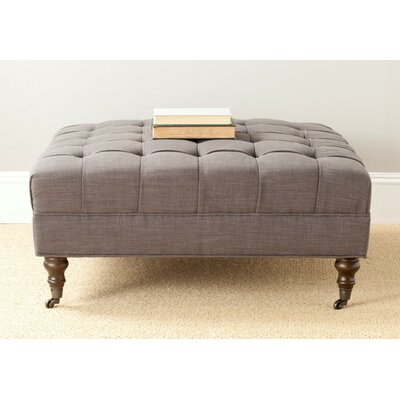 Holsey Ottoman Color: Charcoal Brown