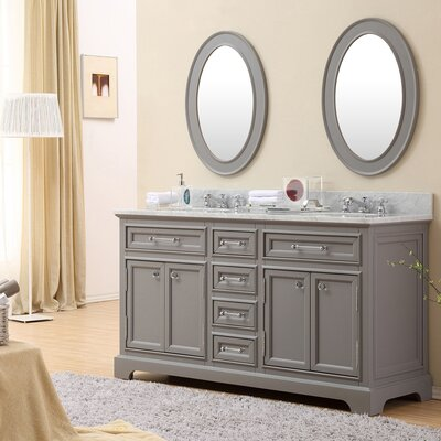 Bergin 60 Double Sink Bathroom Vanity Set Base Finish: Grey