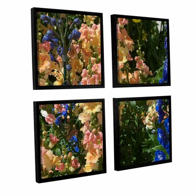 "Vibrance 4 Piece Framed Photographic Print on Canvas Set Size: 36"" H x 36"" W x 2"" D DRBC2990 31559137"