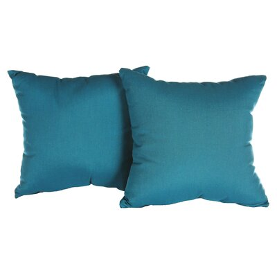 Annabelle Outdoor Throw Pillow Color: Spectrum Peacock