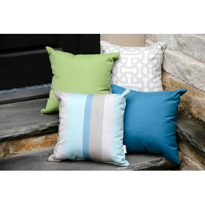 Annabelle Outdoor Throw Pillow Color: Canvas Gingko