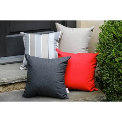 Annabelle Outdoor Throw Pillow Color: Spectrum Carbon