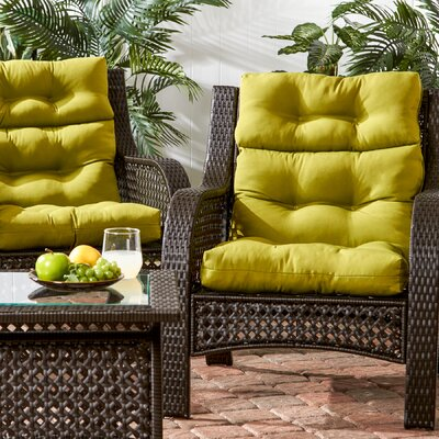 Outdoor High Back Chair Cushion Fabric: Kiwi Green