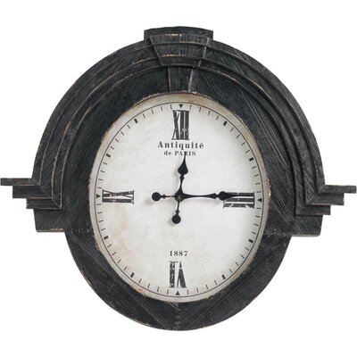 Black Wood Wall Clock