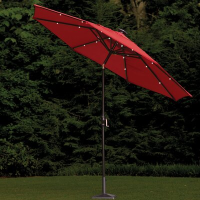 Allston 9' Illuminated Umbrella Color: Scarlet