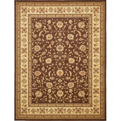 Argo Brown Area Rug Rug Size: Round 8