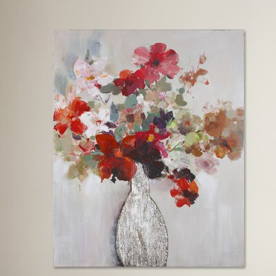 Cut Flower Bouquet Painting Print on Canvas
