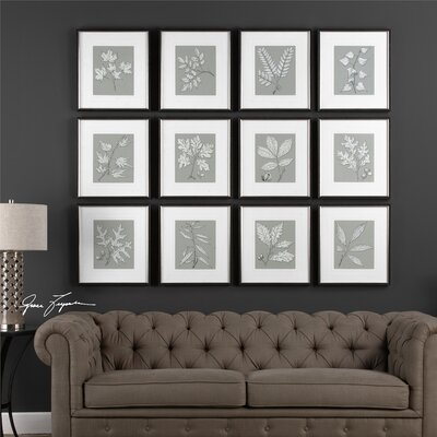 Decorative 12 Piece Framed Graphic Art