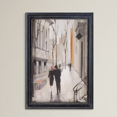 Village Promenade Framed Painting Print