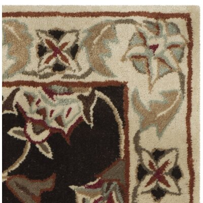 Hand-Made Brown/Beige Area Rug Rug Size: 9 x 12